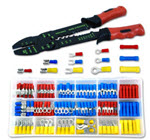 Electrical terminal kit with crimper
