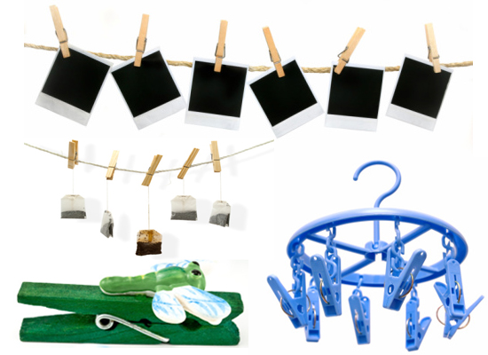 using clothespins